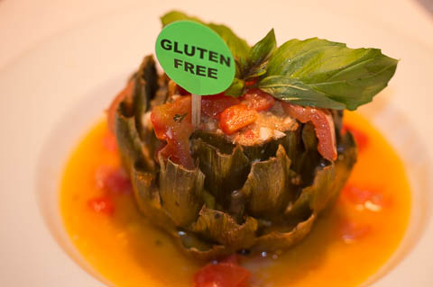 Stuffed Artichoke Fresh artichoke stuffed with toasted bread crumbs, plum tomatoes, Formaggio and Italian herbs